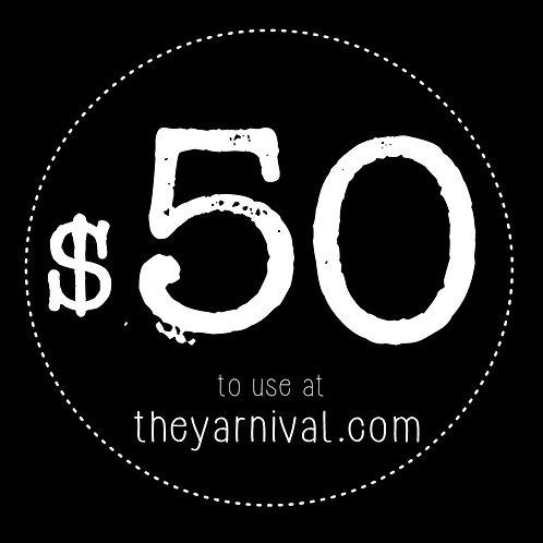 $50 Gift Code