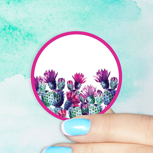 Pretty Pink Prickly Decal
