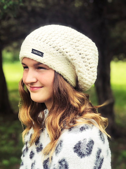 Cream Slouch Hat