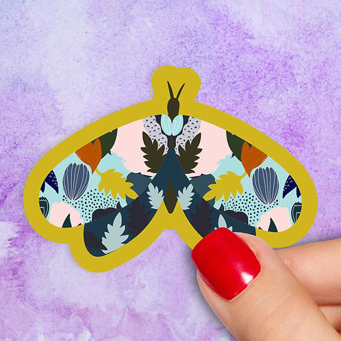 Folk Moth Decal