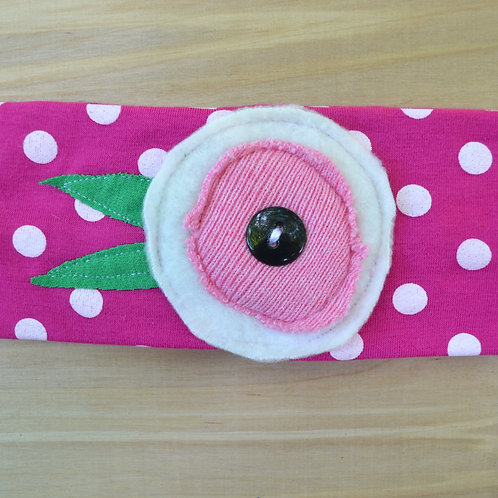Dark Pink Polka Dot Headband