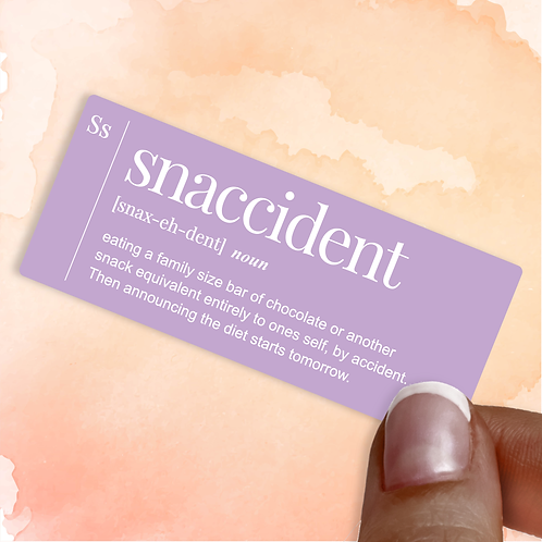 Snaccident Decal