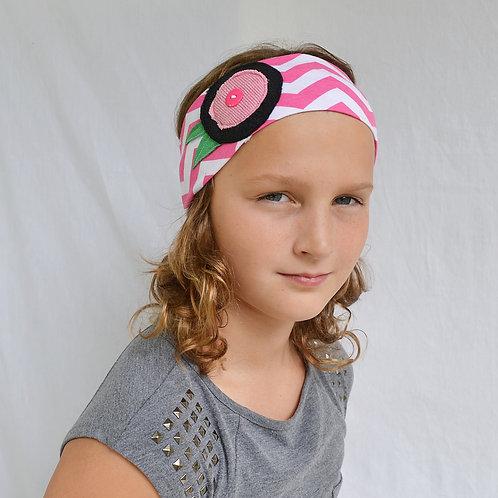 Pink Chevron Headband