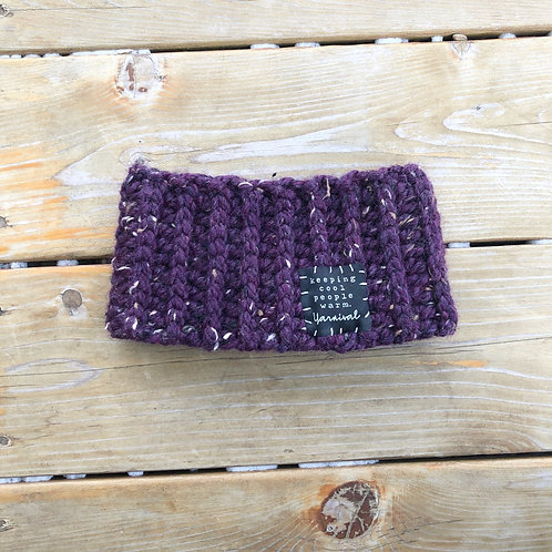 Purple Tweed Winter Headband