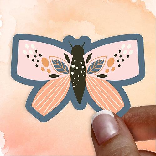 Blush Moth Decal