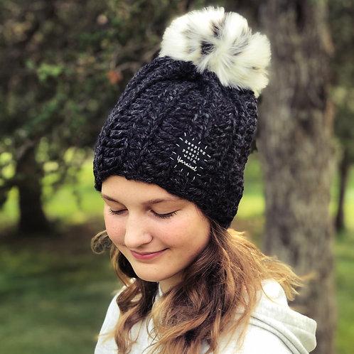 Charcoal Pom Hat