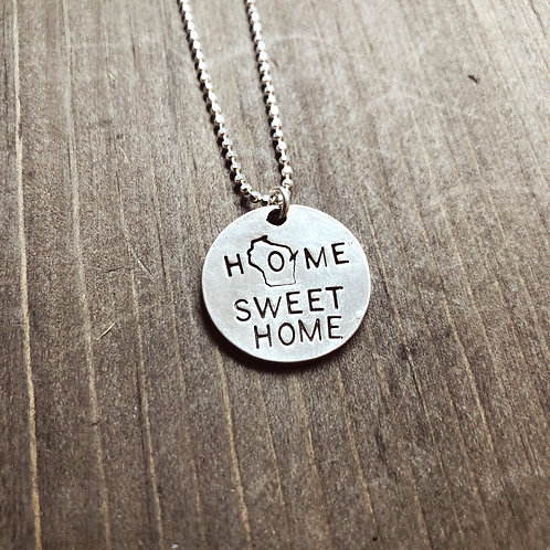 WI Home Sweet Home Necklace