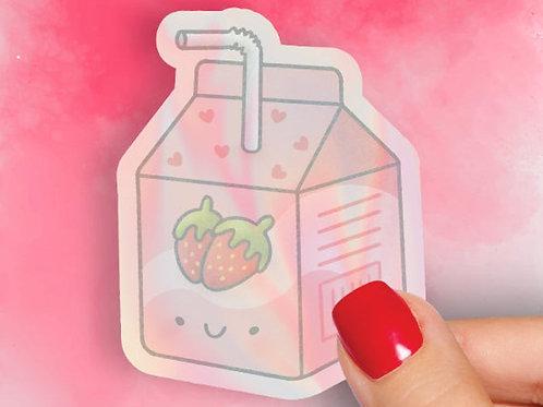 Strawberry Milk Hologram Decal