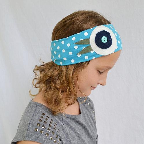Cool Blue Polka Dot Headband
