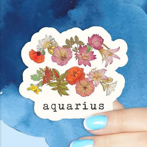 Aquarius Floral Decal