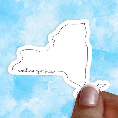 New York Love Decal