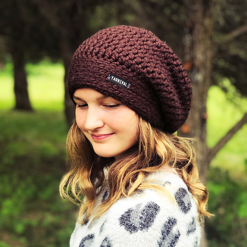 Chocolate Slouch Hat