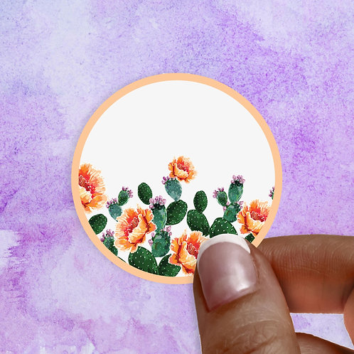 Peachy Prickly Decal