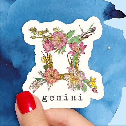 Gemini Floral Decal