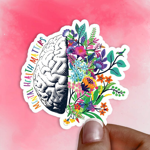 Mental Health Flowers Decal