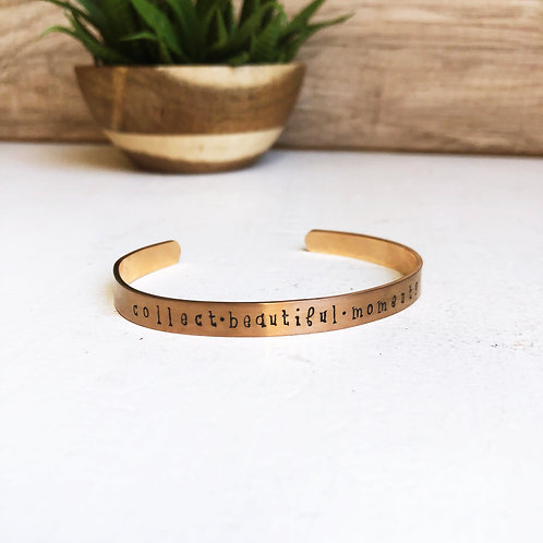 collect beautiful moments - rose gold
