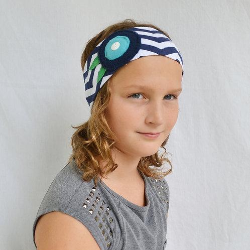 Navy Chevron Headband