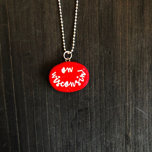 ON WISCONSIN necklace