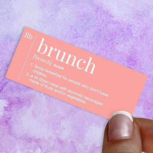 Brunch Decal