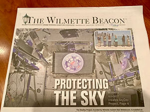 Front page story about client's project.