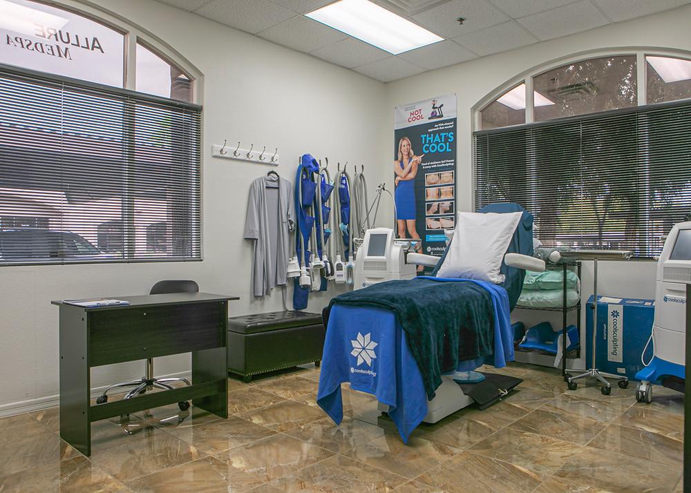Allure Medspa CoolSculpting Treatment Room