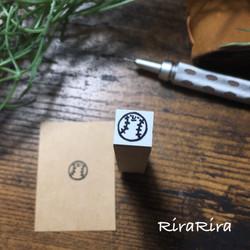 R103【野球】スケジュールはんこ*10㎜×10㎜_1