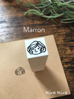 R074マロンちゃん☆顔だけ☆ラバースタンプ_1