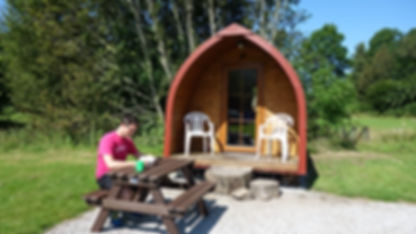 Camping Pods, Log Pods  Fort William Accommodation