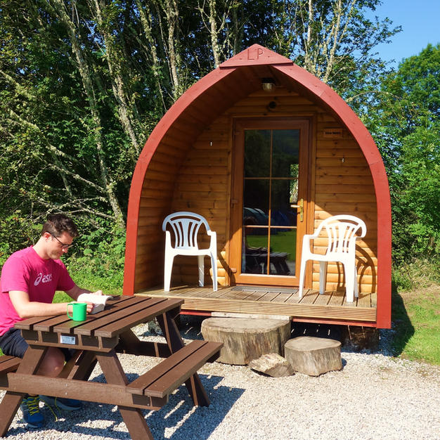 Log Pod. An alternative to traditional camping.
