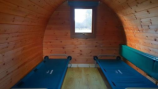 Inside Camping Pod
