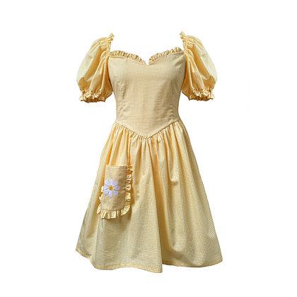 Boni Dress in Buttercup Gingham