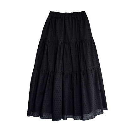 Swing Skirt in Liquorice Dot
