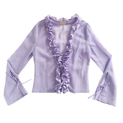 Bruna Ruffle Blouse in Lilac