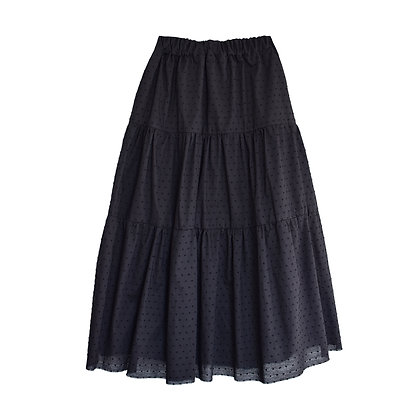Swing Skirt in Liquorice Dot