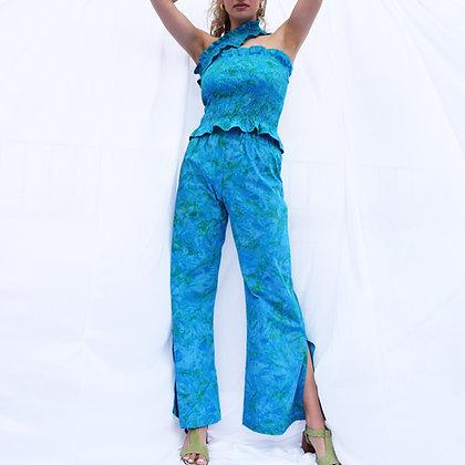 Aeros Trousers in Azure Batik
