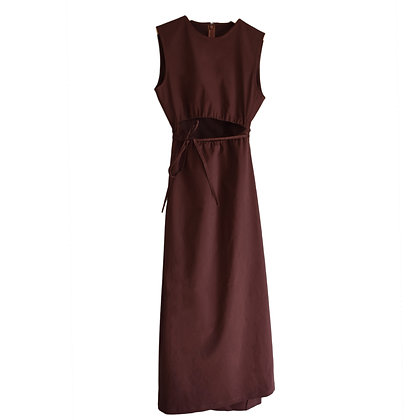 Rhyme Dress in Chestnut