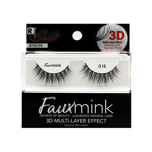 RESPONSE  3D Faux Mink Lashes 016 Black