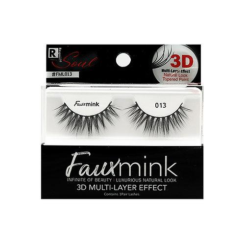 RESPONSE  3D Faux Mink Lashes 013 Black