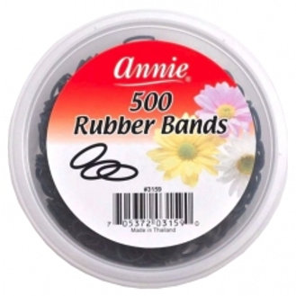 Annie Black Rubber Bands 500 ct