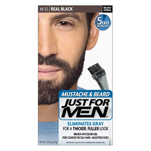 Just for Men Mustache & Beard Color Real Black