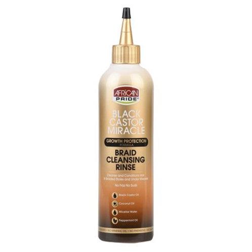 African Pride Black Castor Miracle 12 Oz. Braid Cleansing Rinse