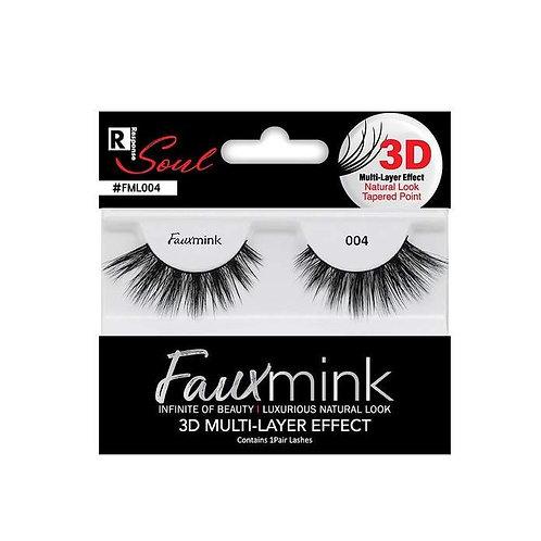 RESPONSE  3D Faux Mink Lashes 004 Black