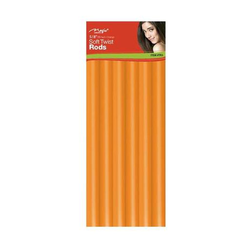 "Magic Soft Twist Rollers 5/8"" Orange"