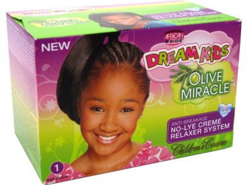 African Pride Dream Kids Olive Miracle Children's Coarse No-Lye Creme Relaxer