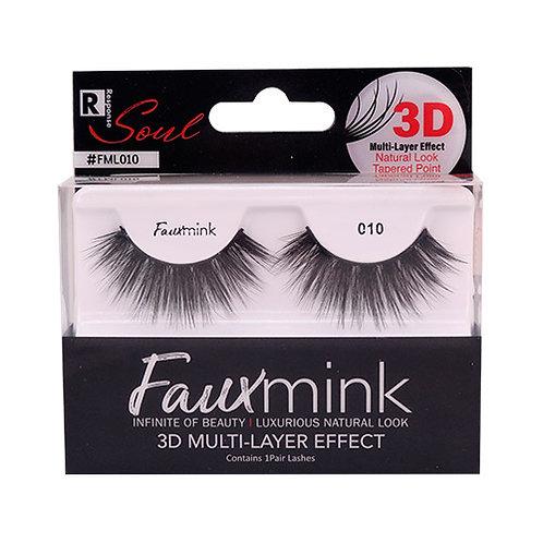 RESPONSE  3D Faux Mink Lashes 010 Black