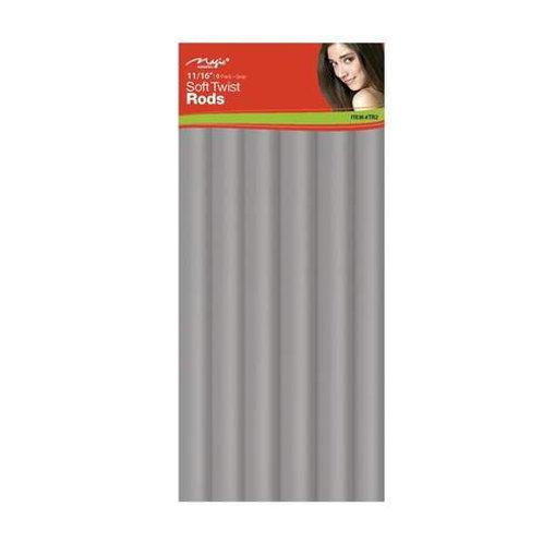 "Magic Soft Twist Rollers 11/16"" Gray"