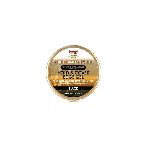 African Pride Black Castor Miracle Hold & Cover Edges BLACK 2.25oz