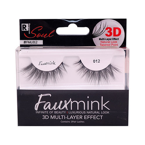 RESPONSE  3D Faux Mink Lashes 012 Black