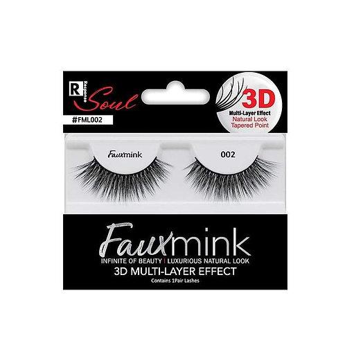 RESPONSE  3D Faux Mink Lashes 002 Black