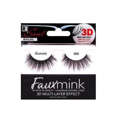RESPONSE  3D Faux Mink Lashes 005 Black